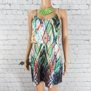 Astars colorful tiered ruffle dress